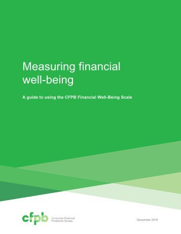 Measuring financial well-being