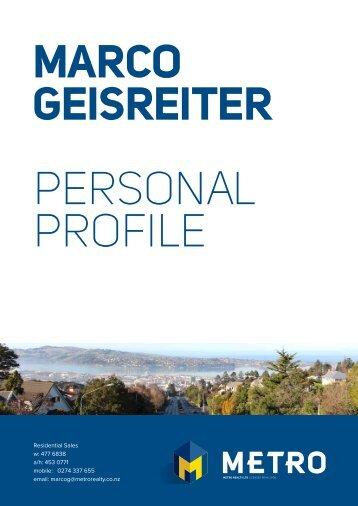 MARCO GEISREITER PERSONAL PROFILE