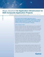 Magic Quadrant for Application Infrastructure for SOA Composite ...