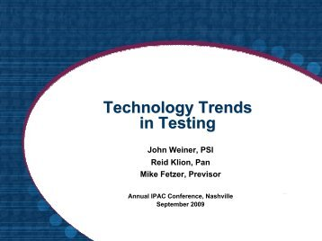 Technology-based Assessment: Advances & Issues