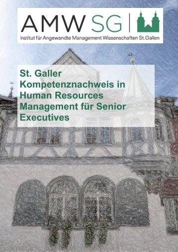 Human Resources Management für Senior Executives