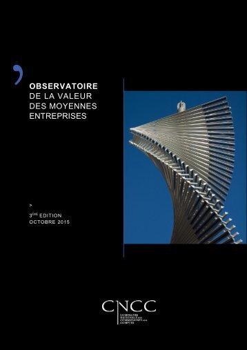 OBSERVATOIRE DE LA VALEUR DES MOYENNES ENTREPRISES