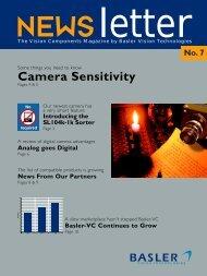 Basler Line Scan Camera Sensitivity - BFi OPTiLAS