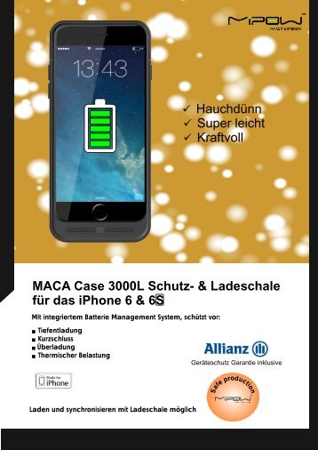 Mipow Powercase Schutzhuelle iPhone6