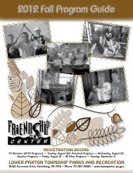 2012 Fall Program Guide - Lower Paxton Township