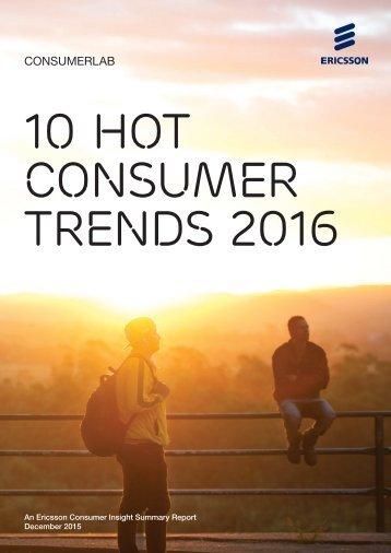 10 Hot Consumer Trends 2016
