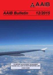 AAIB Bulletin 12/2015