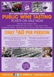 public tasting tickets on sale - Australian Small Winemakers Show