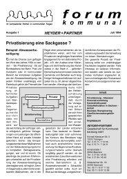 Forum I - Heyder Partner Gesellschaft Für Kommunalberatung mbH