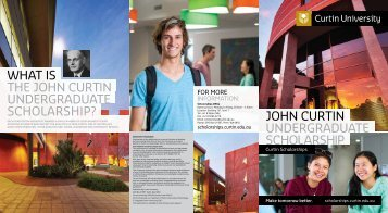 Link to brochure - Scholarships @ Curtin - Curtin University