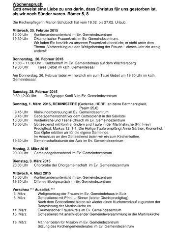 Evangelische Kirchengemeinde Wildberg