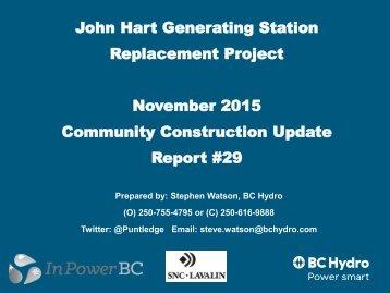 JHGSRP Const Rpt Nov 2015
