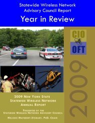 2009 new york state statewide wireless network annual report ...