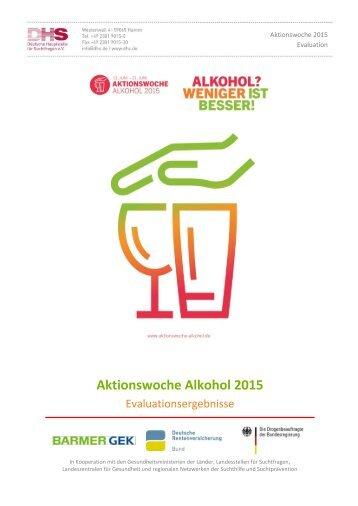Aktionswoche Alkohol 2015