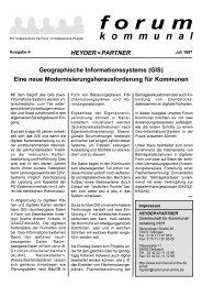 forum - Heyder Partner Gesellschaft Für Kommunalberatung mbH