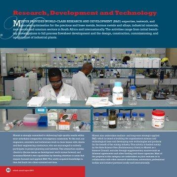 Research, Development and Technology - Mintek