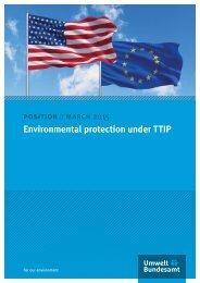 Environmental protection under TTIP