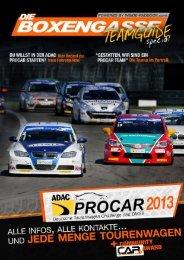 Die Boxengasse, Ausgabe #10/2012 (Sonderausgabe: ADAC PROCAR Teamguide 2013)