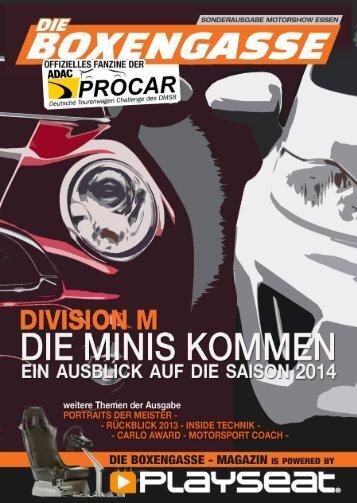 Die Boxengasse, Ausgabe #12/2013 (Sonderausgabe: Essen Motorshow 2013)