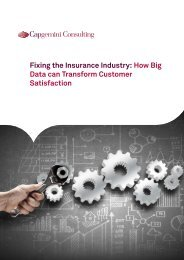 Fixing the Insurance Industry How Big Data can Transform Customer Satisfaction