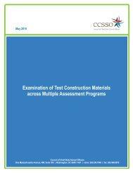 Examination of Test Construction Materials across Multiple Assessment Programs