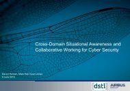 Cross-Domain Situational Awareness and Collaborative Working for Cyber Security