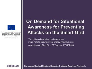 Klaus Theuerkauf - On Demand for Situational Awareness for Preventing Attacks on the Smart Grid