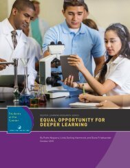 EQUAL OPPORTUNITY FOR DEEPER LEARNING