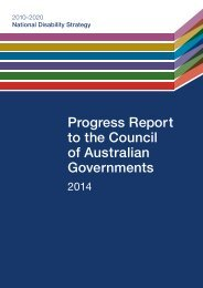 Progress Report to the Council of Australian Governments