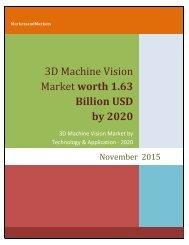 3D Machine Vision Market worth 1.63 Billion USD by 2020