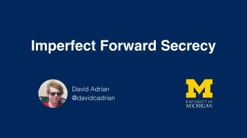 Imperfect Forward Secrecy