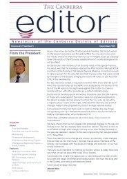 The Canberra editor November-December 2015