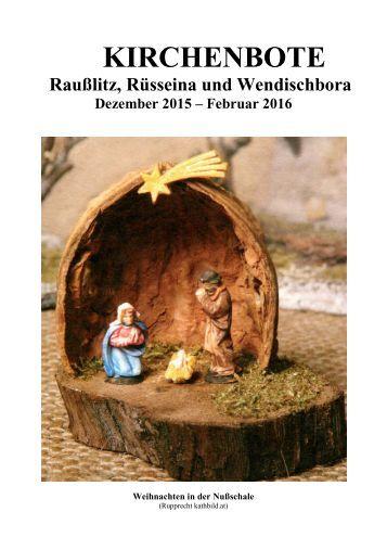 Kirchenbote 2015/16 Dez-Feb