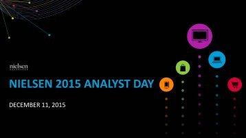 NIELSEN 2015 ANALYST DAY