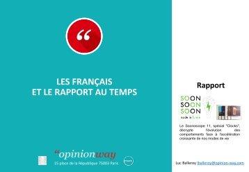 LES FRANÇAIS ET LE RAPPORT AU TEMPS