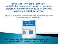 Installationsanweisung TeamViewer