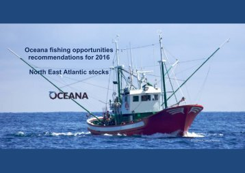 Oceana fishing opportunities recommendations for 2016 North East Atlantic stocks