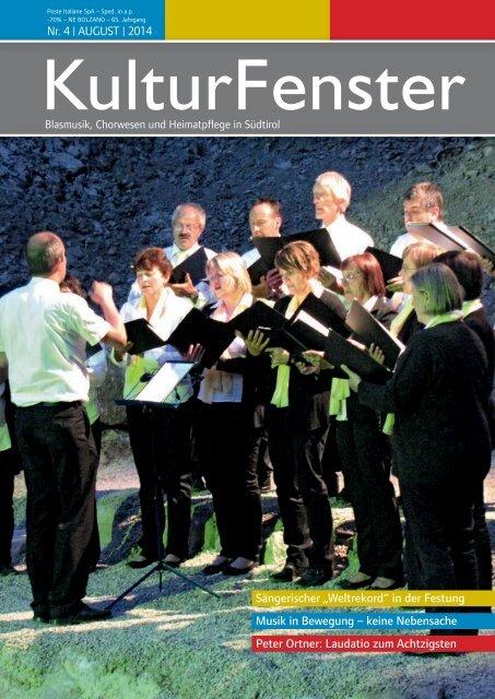KulturFenster Nr. 04 2014 - August 2014