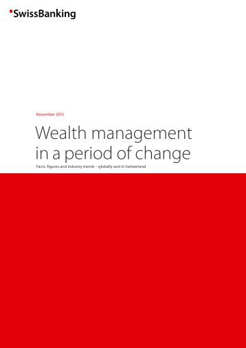 Wealth management in a period of change