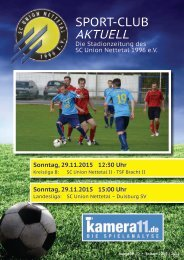 Sport Club Aktuell - Ausgabe 20 - 29.11.2015