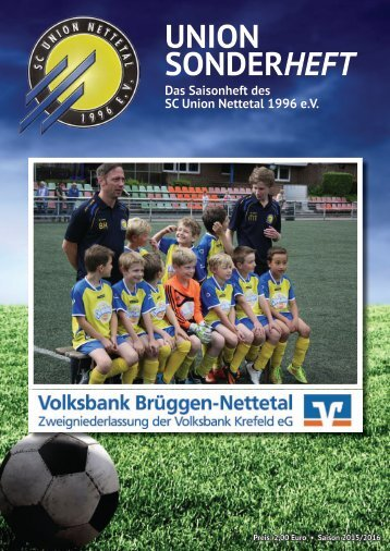 SC Union Nettetal - Saisonheft 2015/2016