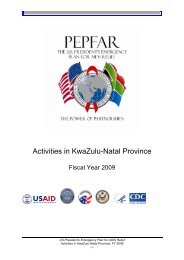 Activities in KwaZulu-Natal Province - South Africa