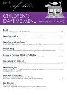 Bernie's Cafe Deli Childrens Menu - Page 2