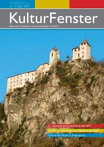 KulturFenster Nr. 03|2013 - Juni 2013