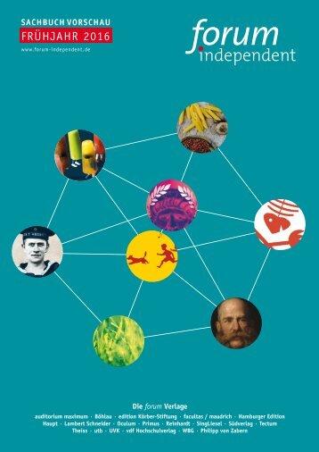 forum independent Programmvorschau Sachbuch Frühjahr 2015