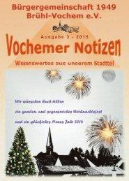 Vochemer Notizen - Ausgabe 3.2015