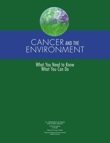 Cancer and the Environment - NIEHS - National Institutes of Health