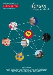 forum-independent Programmvorschau Fachbuch Frühjahr 2016
