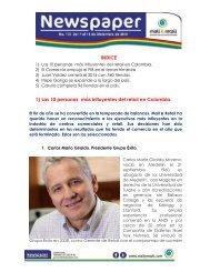 INDICE 1) Las 10 personas más influyentes del retail en Colombia