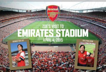 Arsenal Photo Book from PrintersRose